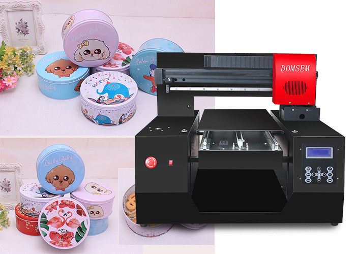 3D Effect Small Flatbed Digital Uv Inkjet Printer With Epson Printheads